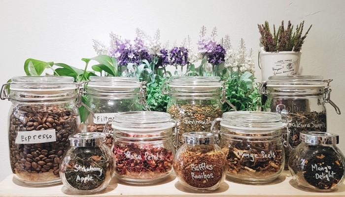 recycled coffee jars