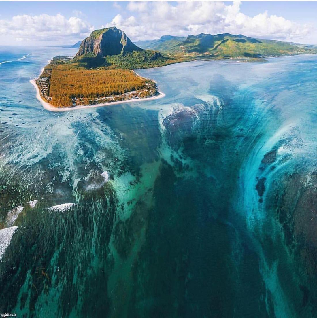 Underwater Waterfall Illusion