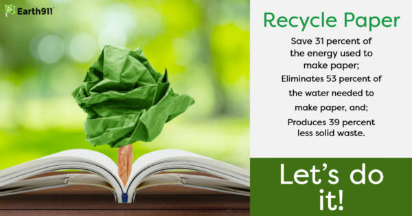 We Earthlings: Why Use Recycled Paper?