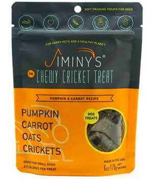 Jiminy's Cricket-based Treats Reduce Your Dog's Carbon & Water Footprint