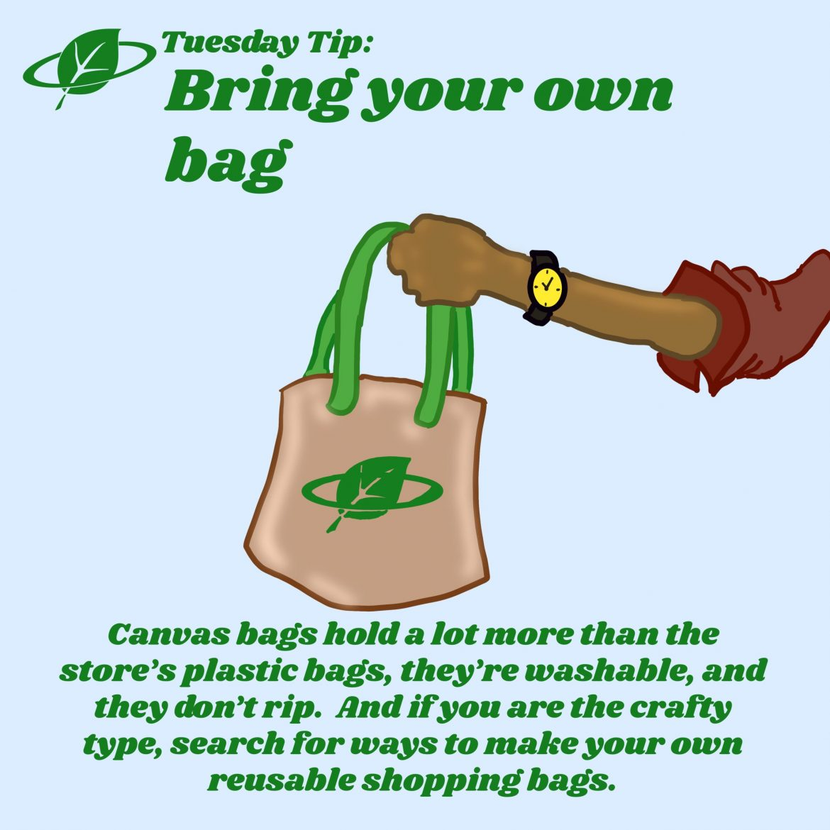 Bring your own bag   Tuesday Tip