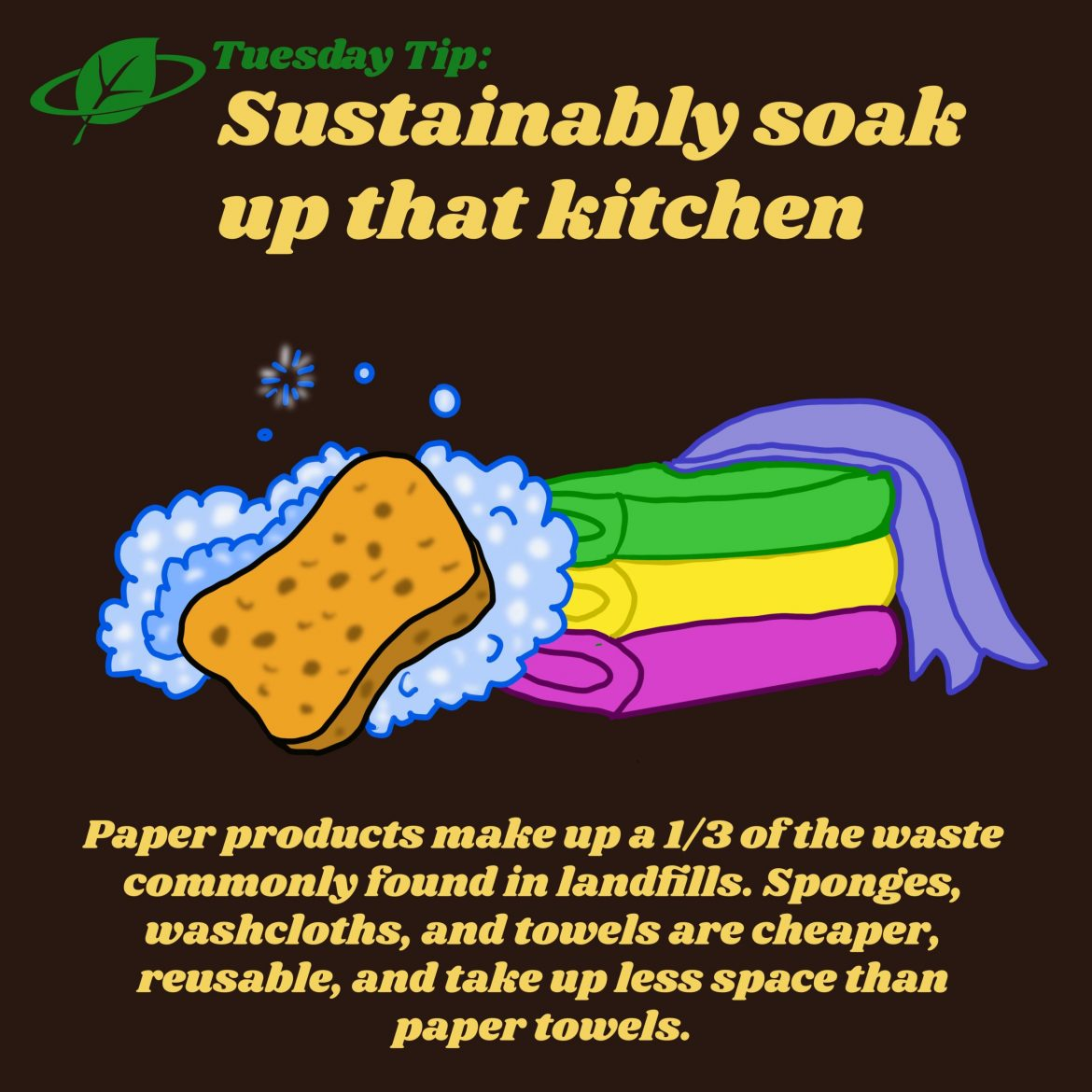 Sustainably soak up that kitchen | Tuesday Tip