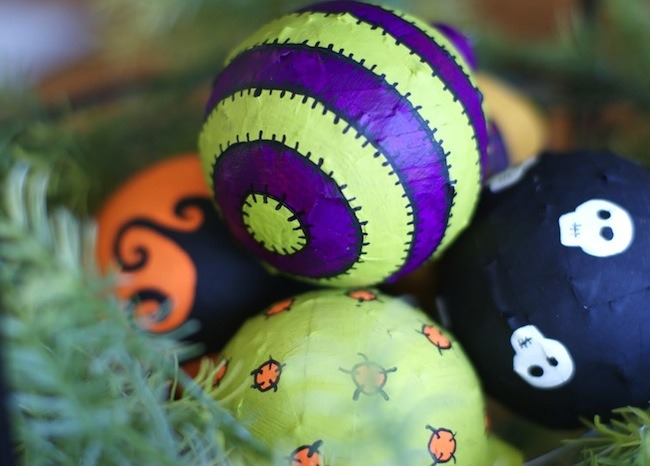 Upcycle Unwanted Holiday Ornaments for Halloween